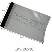 Envelope Pl�stico Seguran�a Lacre Tipo Sedex Impresso 26x36 (500pcs)