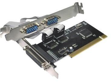 Placa Pci com 2 Portas Serial RS232 DB9 e 1 Paralela